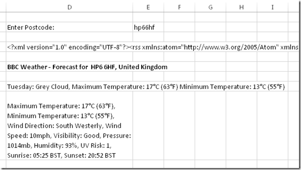 Using the WebService() function in Excel 2013 « Chris Webb's BI Blog
