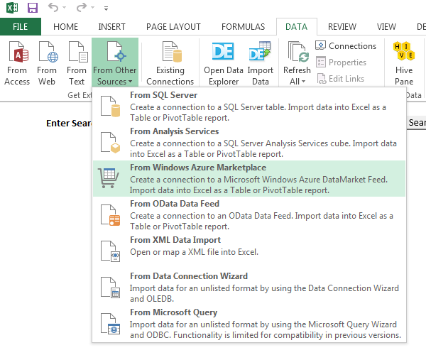 Parameterising PowerPivot Connection Strings in Excel 2013