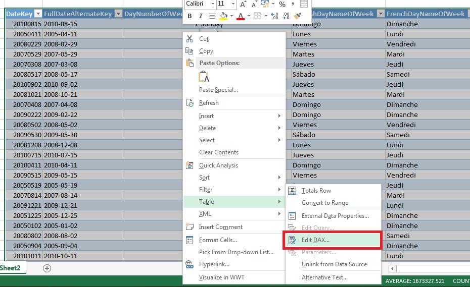 Dynamic DAX Query Tables in Excel 2013 « Chris Webb's BI Blog