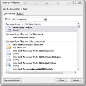 Reusing A Power Query Connection « Chris Webb's BI Blog