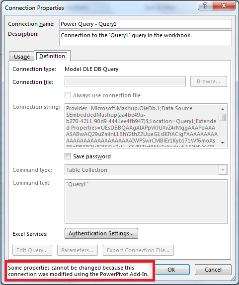 Power Pivot / Power Query Read-Only Connection Problems In