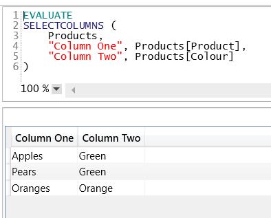 Using SelectColumns() To Alias Columns In DAX « Chris Webb's