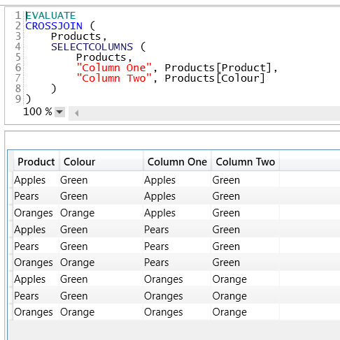 Using SelectColumns() To Alias Columns In DAX « Chris Webb's