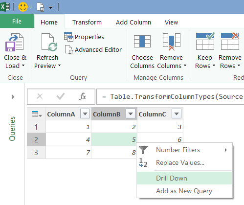 Referencing Individual Cell Values From Tables In Power Query