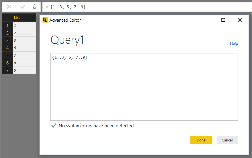 Creating Sequences Of Integers And Characters In Power BI