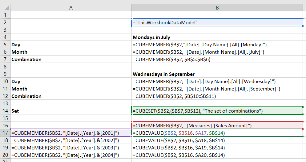 Creating OR Filters With Cube Functions For Power Pivot And Analysis