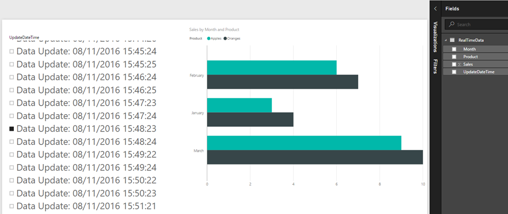 Pushing Data From Excel To Power BI Using Streaming Datasets