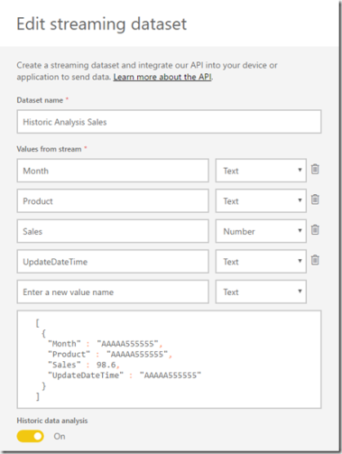 Pushing Data From Excel To Power BI Using Streaming Datasets « Chris