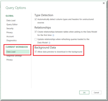 """Power Query, Power BI And The """"Allow Data Preview To Download In The"""