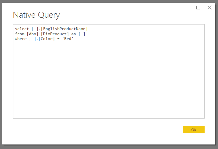 Query Folding And Writing Your Own SQL Queries In Power