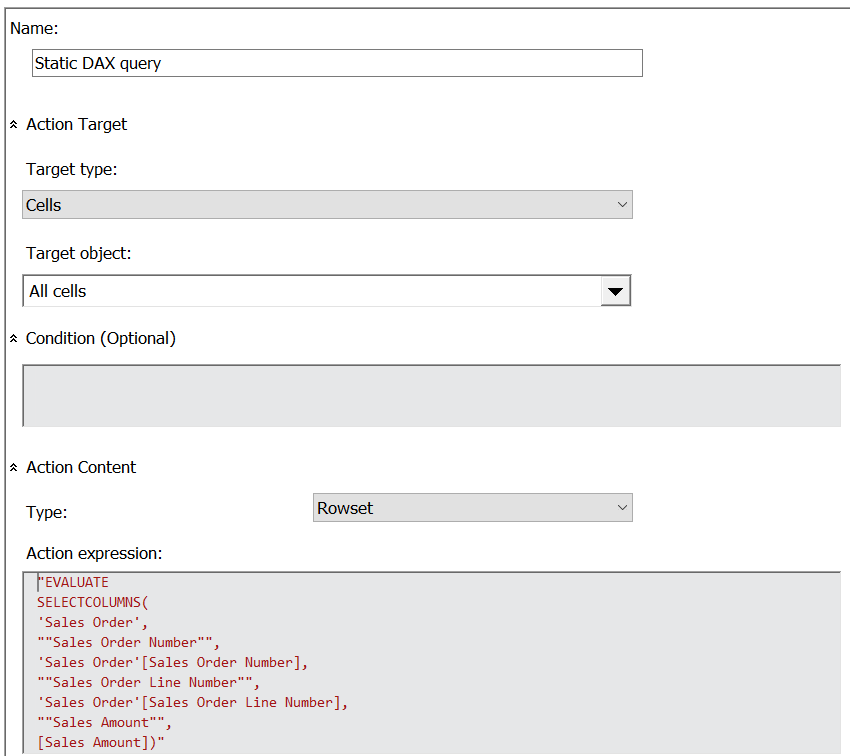 Drillthrough On Calculated Members In SSAS MD 2017 Using DAX