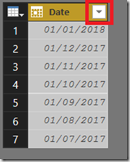 "In the Previous"" Date Filters In Power BI/Get&Transform"