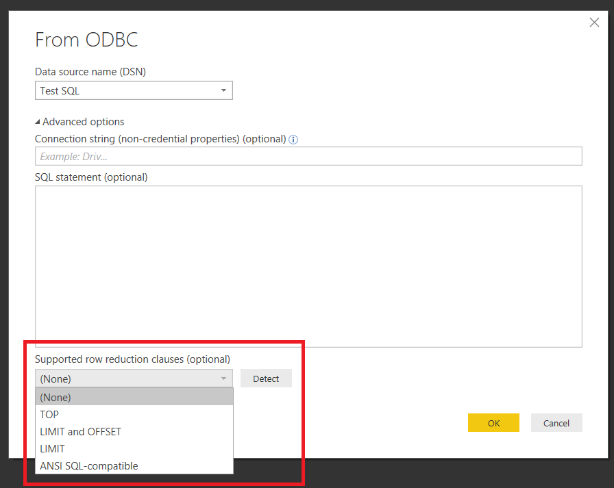 ODBC Data Sources, The SqlCapabilities Option And Power