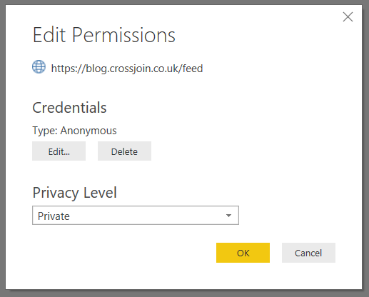 Power BI Data Privacy Levels And Cloud /Web-Based Data
