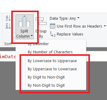 Splitting Text By Character Transition In Power BI And Excel
